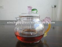 Heat-resistant glass good looking hot water pot with drinking and good beautiful design
