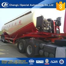 chinese cheap tri axle three comparments 60 m3 bulk pulverized fuel ash tanker semi trailer for hot sale