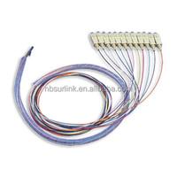 Surlink Fiber Optic Bundle Pigtail SC MM 62.5/125, 12 Fiber with Spiral Wrap Band, 2M