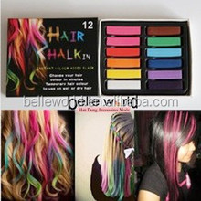color chalk for colorful hair dye chalk/temporary hair chalk pen