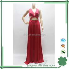 2015 hot sale high end red sexy long design wedding dress for girls