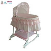 Wholesales portable folding Pink infant rocking bed swing baby bed/cradle