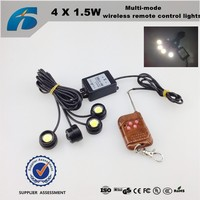 car led DRL 4*1.5W 12V Multi-mode wireless remote control lights Strobe 3M Hawkeye Light Kit
