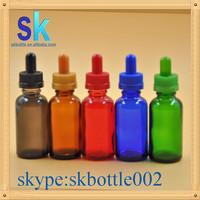 red essential oil bottle 30ml glass dropper bottle with childproof cap in stock