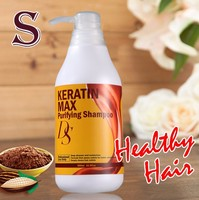 Natural hair salon products chocolate keratin hair shampoo for hair extensions