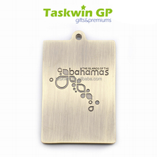 Customized high quality zinc alloy medal for race/award metal rectangle medal/Custom award medal with 2d logo