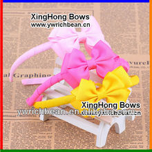 Hot sales Kids grosgrain ribbon wrapped headband !,Fashion kids' ribbon Hard headband cute headband for kids WH-926