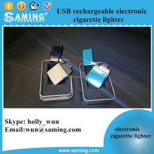 USB rechargeable electronic cigarette lighter / Smart Metal USB Rechargeable Electric Electronic Arc Cigarette Lighter Supplier