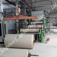 Easily get raw material,rice straw paper making machine to make corrugated paper for carton board