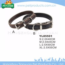 Best quality cheap fashion design leather rolled dog collar
