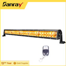 "300W 52"" Straight remote control auto lighting led warning strobe light exterior light bar"