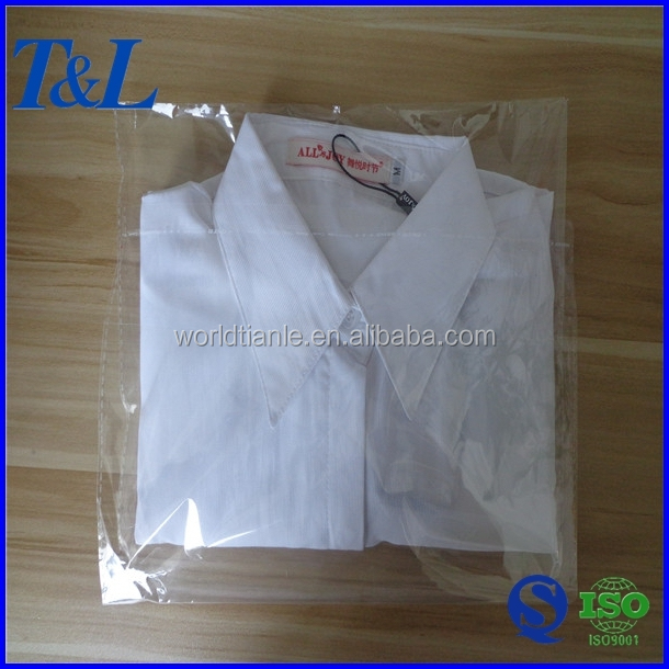 Opp plastic garment bag t shirt clear cheap garment opp for Clear shirt packaging bags