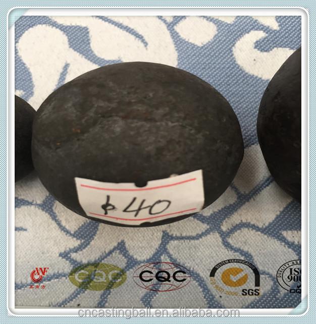 40 ММ Утюг Материал и Добычи Приложения мелющих тел шар с HRC65