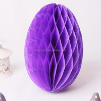 Easter egg shaped honeycomb ball tissue paper lanterns party wedding Decorations