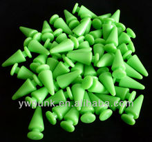 9*22mm green plastic studs for clothing studded shoes men glue on studs jewelry components