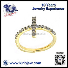Wholesale jewelry best price fashion design cross shape different types stones rings