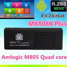 MK808B Plus Amlogic M805 Android4.4 Quad Core Dongle H.265 Decode 1G/8G Bluetooth WiFi XBMC Mini PC