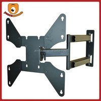 "Premium Aluminum Tilting and Extendable options for 32"" to 46"" TVs Max load 125 lbs UL approved cast iron LCD TV Wall Bracket"