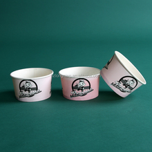 disposable paper tub for ice cream