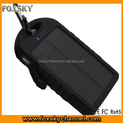 Solar Charger 5000mAh ,solar power bank ,power station 5000mah for iphone /Samsung/HTC/Nexus