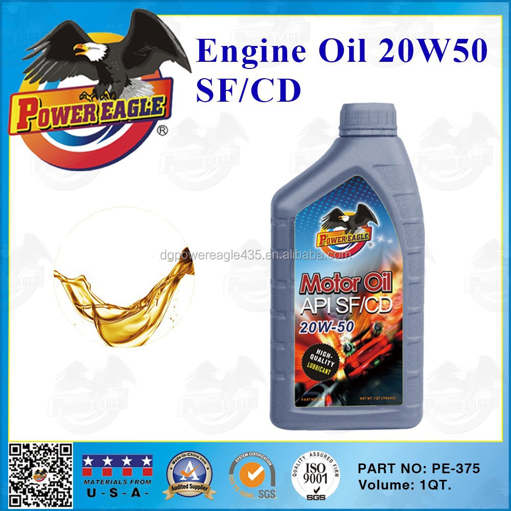 High quality 20w50 car engine oil 1qt buy engine oil for Api motor oil guide