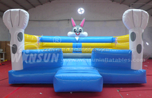 Amusement equipment inflatable bouncer cartoon with blower with CE approved