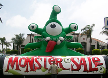 giant green inflatable monster