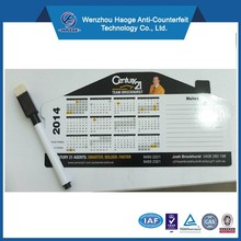 House Shape REAL ESTATE Magnetic Calendars,Memo Calendar Magnets,magnetic yearly calendar