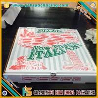 Corrugated paper custom style white pizza box,plain pizza box