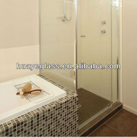 flat or curved 8mm temper glass shower room