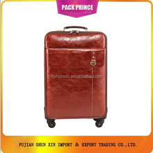 High quality and cheap leather luggage