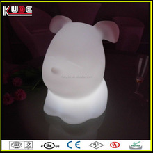 puppy design rechargeable led table lamps for bedroom