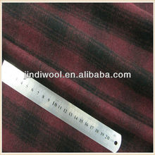 plaid di lana tessuto di lana melton