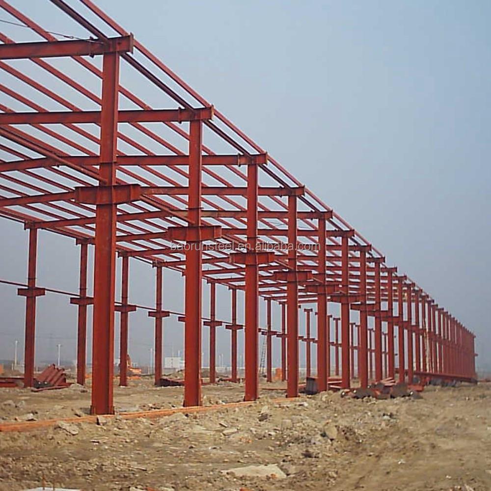 China baorun prefab steel workshop building materials for for Cheap building materials for houses