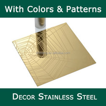 Fashional designed pvd coating stainless steel sheet