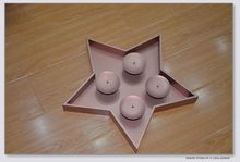 Cheap brown color star shape plastic decoration for christmas decoration