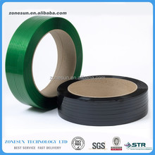 Green color black color PET Strapping, Polyester strapping, PET strapping band