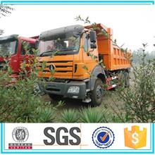 Using Mercedes Benz technology Beiben 6x4 340hp 25-30 ton tipper truck capacity