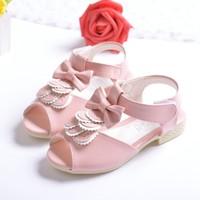 TSW8197 Genuine leather children shoes sandals fashion korean fish mouth fancy little girls sandals