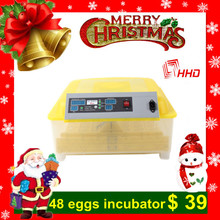 Newest style best selling transparent full automatic CE marked mini chicken egg incubator for 48 eggs