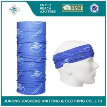 Customized Logo Seamless Blue Headwear
