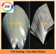 Transparent Vacuum plastic bag/ Silver Vacuum Plastic Bags For Food Storage