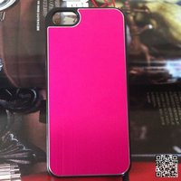 PC pink aluminium sheet mobile phone case for iPhone 5