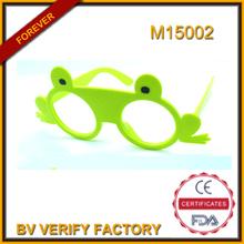 M15002 Crazy Party lunettes de soleil grenouille forme cadre néon couleur à la mode dans le monde entier