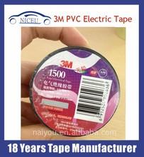 3M Heat Resistant PVC Insulation Black Adhesive Tape