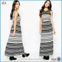 Hot Sell Pakistani Printed Lawn Dresses Maxi Casual Dress with Lace Trim Design for Women