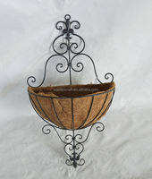 Decorative Wall Hanging Basket Planter With Coco Liner