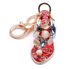 Fashion high heel shoe rhinestone keychain, mini crystal sneaker keychain keyring, soccer cleats running shoe pendant Key chain