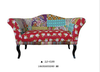French style country style unique design floral pattern fabric wing back 2 seater sofa chair