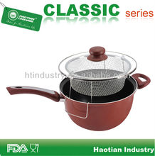 Aluminum non-stick deep turkey frying pot